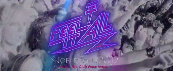 Projets pour le Feel It All Tour, au concert de Marseille le 09/03/2015