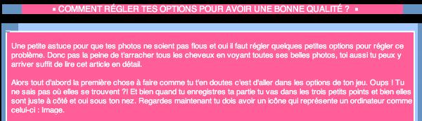 _____» ARTICLE ASTUCE : Comment régler les options de ton jeu ?_______________________LIVRE D'OR  - AMIS  - FAVORIS_ A4S_Ta source n°1 de téléchargements Sims 2___________________________NEWSLETTER DU BLOG - SOMMAIRE - FORUM A4S