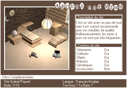 _____» ARTICLE SITES : Around The Sims__________________________________LIVRE D'OR  - AMIS  - FAVORIS - BLOG STAR ?_ A4S_Ta source n°1 de téléchargements Sims 2___________________________NEWSLETTER DU BLOG - SOMMAIRE - FORUM A4S