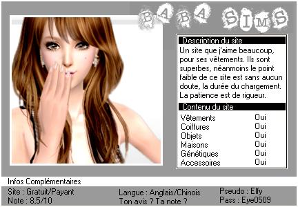 _____» ARTICLE SITES : Baba Sims___________________'_____________________LIVRE D'OR  - AMIS  - FAVORIS - BLOG STAR ?_ A4S_Ta source n°1 de téléchargements Sims 2___________________________NEWSLETTER DU BLOG - SOMMAIRE - FORUM A4S