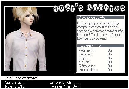 _____» ARTICLE SITES : Yuri's Goodies'___._______-________________________LIVRE D'OR  - AMIS  - FAVORIS - BLOG STAR ?_ A4S_Ta source n°1 de téléchargements Sims 2___________________________NEWSLETTER DU BLOG - SOMMAIRE - FORUM A4S