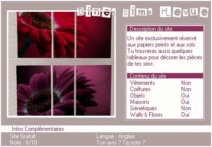 _____» ARTICLE SITES : Bines Sims Revue'___.__________________________________LIVRE D'OR  - AMIS  - FAVORIS - BLOG STAR ?_ A4S_Ta source n°1 de téléchargements Sims 2______________________________________________________________