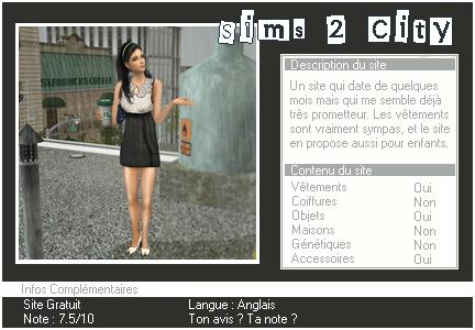 _____» ARTICLE SITES : Sims 2 City'_____.__________________________________LIVRE D'OR  - AMIS  - FAVORIS - BLOG STAR ?_ A4S_Ta source n°1 de téléchargements Sims 2______________________________________________________________
