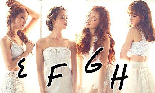 E - F - G - H