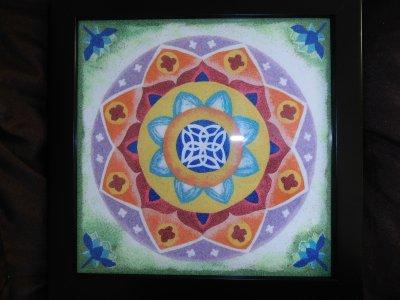 Mandala de ma création fait en sable