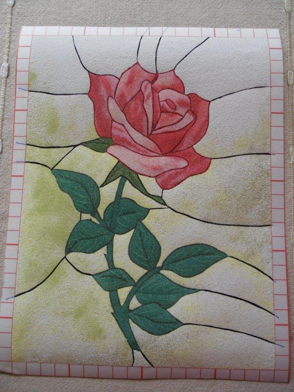 Tableau de sable : la rose