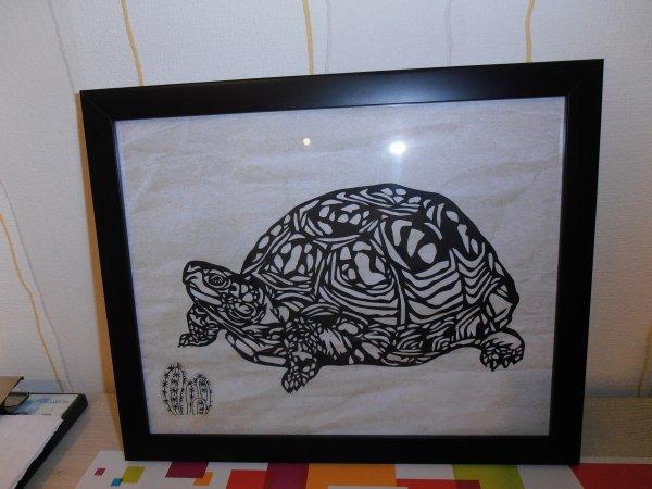 Découpage kirie : La tortue
