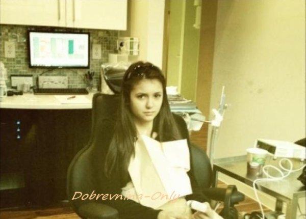 Photo de Nina au dentiste et  avec Ian