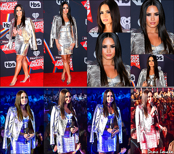 05/03/17 - Notre belle Demi Lovato s'est rendu à la cérémonie des iHeartRadio Music Awards à Los Angeles.