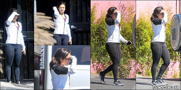 06/03/17 - Demi Lovato a été photographiée alors qu'elle quittait une salle de sport à Hollywood.