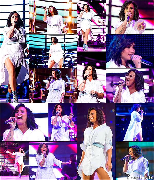 14/03/17 - Demi Lovato performant au HoustonRodeo devant 66 740 personnes dans le stade NRG à Houston.