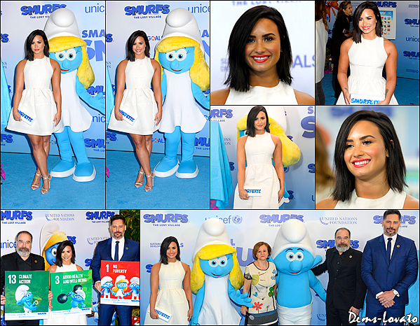18/03/17 - Demi Lovato s'est rendu à la conférence de presse du film  Les Schtroumpfs et Le Village Perdu à NY. Demi & l'équipe du film ont fait un discours au siège de l'ONU (vidéo). Pour rappel, le film sort le 7 Avril ! Top sa tenue.