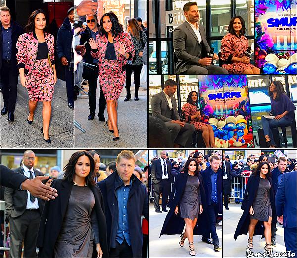 """20/03/17 - Demi quitte son hôtel pour se rendre sur l'émission """"Good Morning America"""" à New York."""