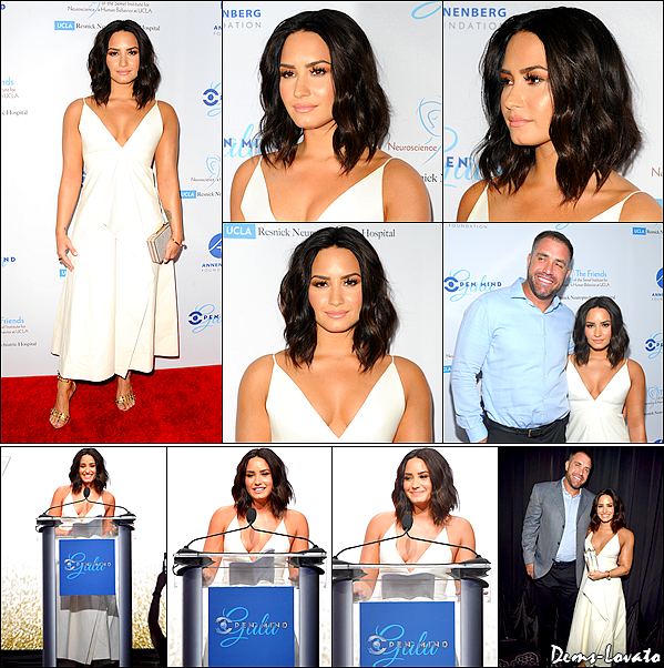 22/03/17 - Demi s'est rendu à l'évènement Open Mind Gala, où elle a été honorée à Beverly Hills.