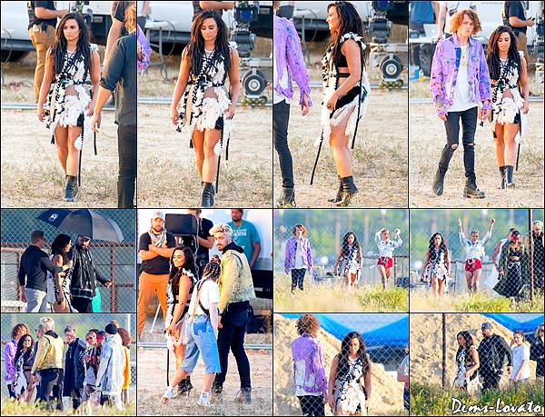11/04/17 - Demi a été vue sur le tournage de son nouveau clip vidéo No Promises avec Cheat Codes.
