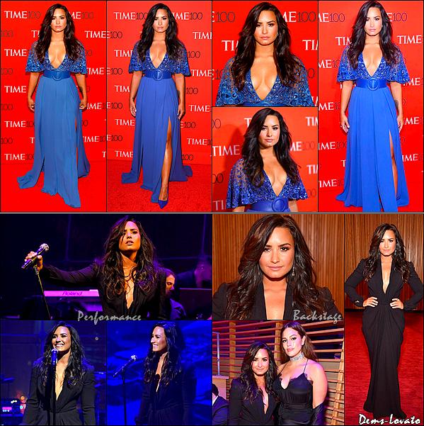 """25/04/17 - Demi s'est rendu au """"Time 100 Gala"""" des personnes les plus influentes à New York."""