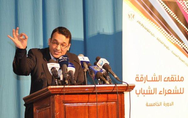الشاعر بغداد سايح في ملتقى الشارقة للشعراء الشباب /الدورة الخامسة