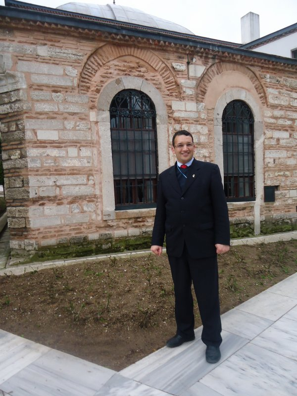 بغداد سايح في قصر توبكابي باسطنبول