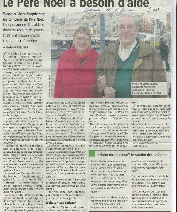 VIFS ENCOURAGEMENTS DE LA PRESSE QUI PARLE DE CE BUS LEGENDAIRE...LE BUS DU BONHEUR
