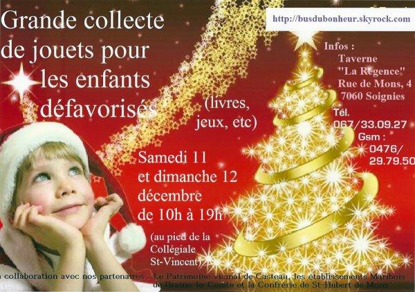 DATES A RETENIR POUR LE BUS DU BONHEUR A SOIGNIES: LE 11 ET 12 DECEMBRE 2010