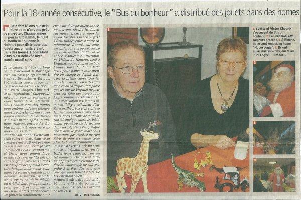 """NOTRE ACTION A PORTE : """" LE BUS DU BONHEUR """" A PORTE SES FRUITS"""