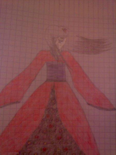 Japonaise en kimono.