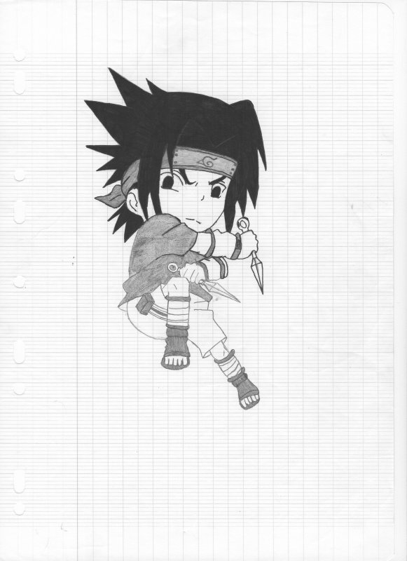 Dessin Sasuke Uchiwa Chibi Il Croyait En Moi Et Moi