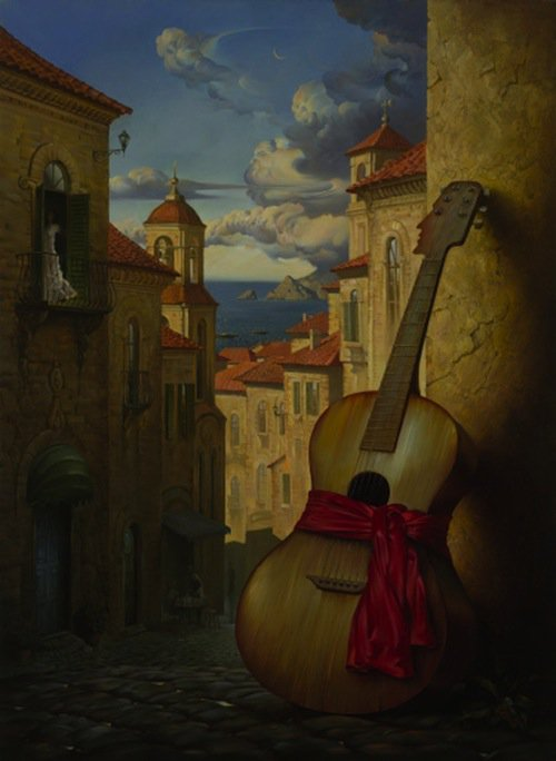 Sur une toile de Vladimir KUSH ( peintre déjà présenté).