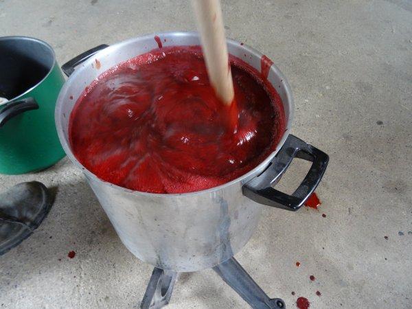 Hier après-midi, confitures de prunes ...
