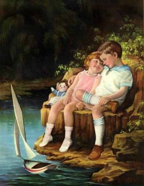 Sur une toile d'Adélaïde HIEBEL (1885-1965) ...
