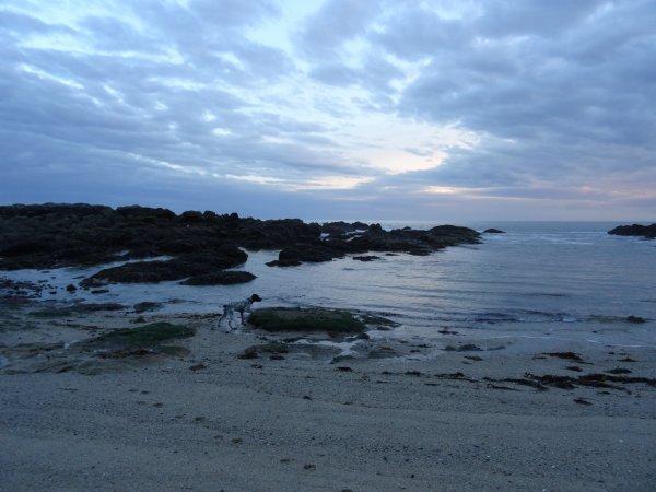 Toujours la plage de Port Lin le soir ...
