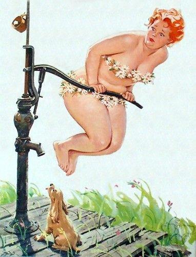 Hilda et ses marguerites par l'illustrateur Duane BRYERS.