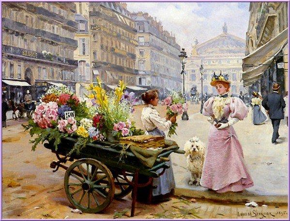 Méli-mélo de thèmes ... arrosoir, charrette, fleurs, roses, chapeaux, ombrelles ...