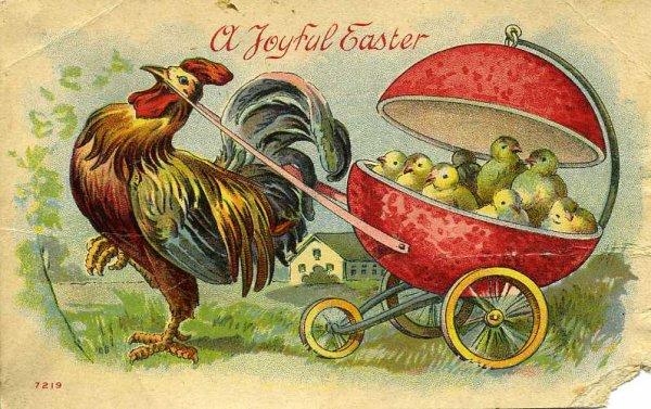 Chariots, charrettes et même diligence... de Pâques.