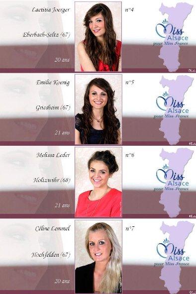 Candidates au titre de Miss Alsace 2012 (17 Juin 2012)