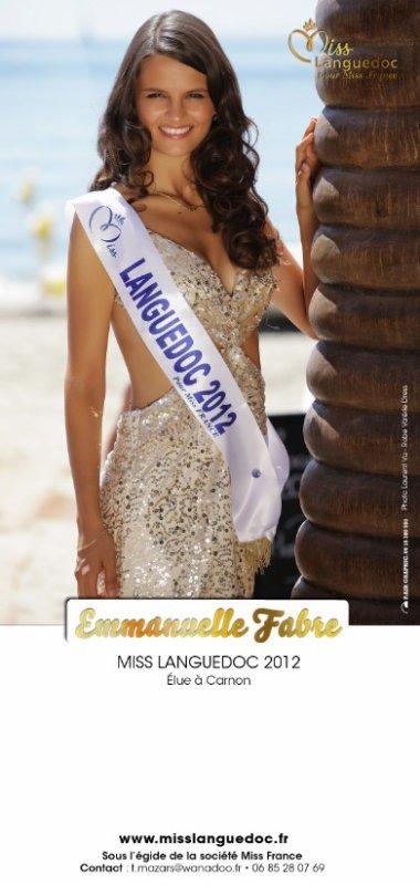 Emmanuelle Fabre est Miss Languedoc 2012