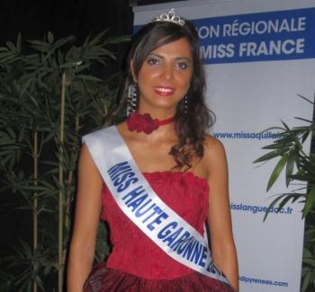 Célia Guermoudj est Miss Midi-Pyrénées 2012