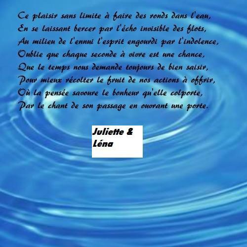 Poème sur l'eau