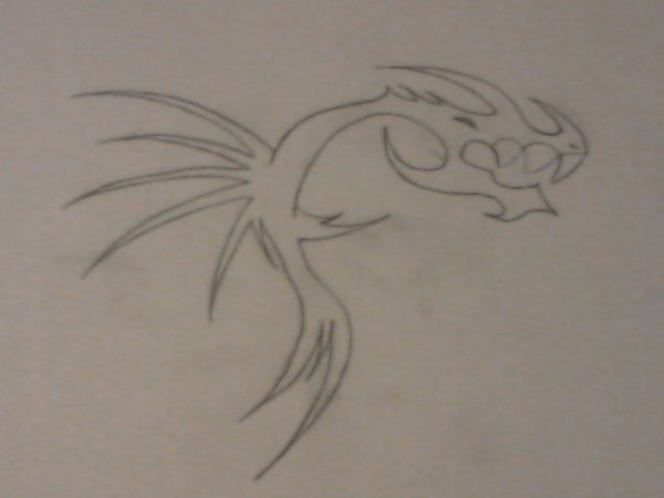 Dessin de mon tatouage créer et dessiner par moi :P <3