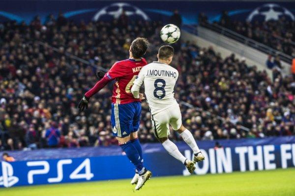 LE MILIEU DE TERRAIN INTERNATIONAL PORTUGAIS JOAO MOUTINHO LORS DU MATCH DE CHAMPIONS LEAGUE 2016 - 17 : CSKA MOSCOU - AS MONACO (1-1).