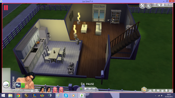 La maison de Sakura et Haruki version sims