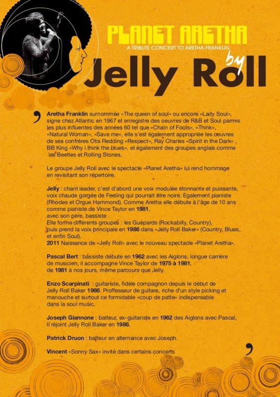 BLOG DU GROUPE ( JELLY ROLL )( PLANET ARETHA  ) concerts classés par page