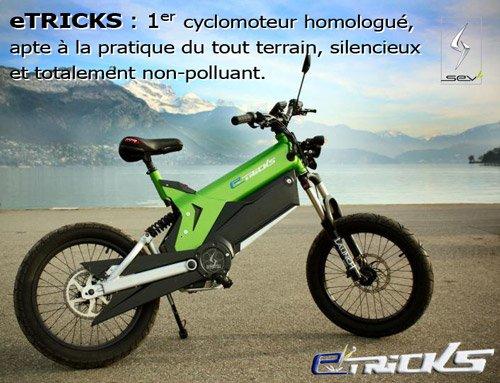 cyclomoteur (électrique) tout terrain