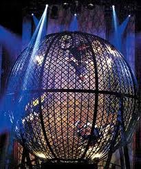 Crazy ball / globe of death / globe de la mort