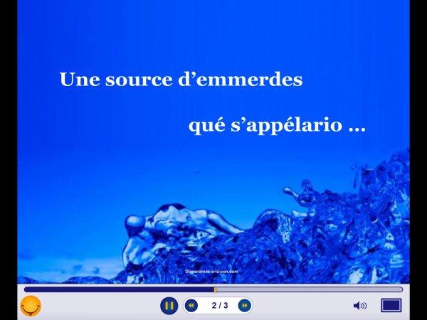 Une nouvelle eau de source a l'Elysee ..........