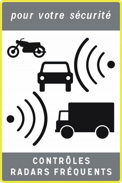 Autocollant anti radar pour plaque d'immatriculation