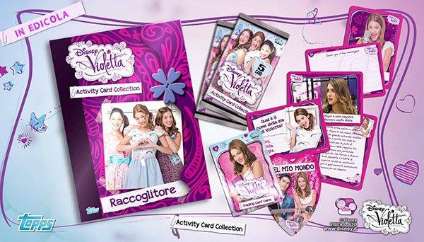 La collection de cartes de l'activité de Violetta dans Kiosque, découvrez-le! En Italie ♪