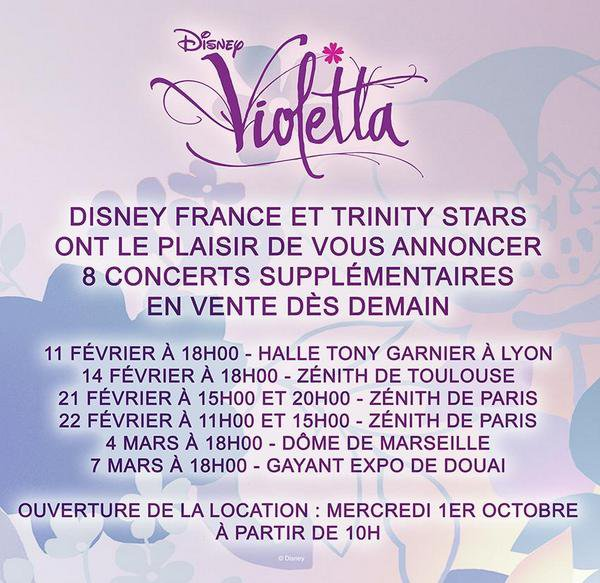 News – Violetta Live  - info