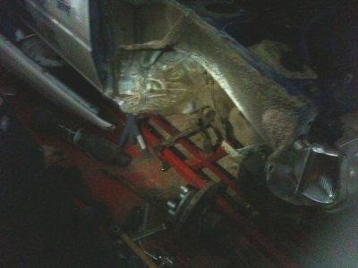 demontage de la 205 apres la sorite de route a Envermeu