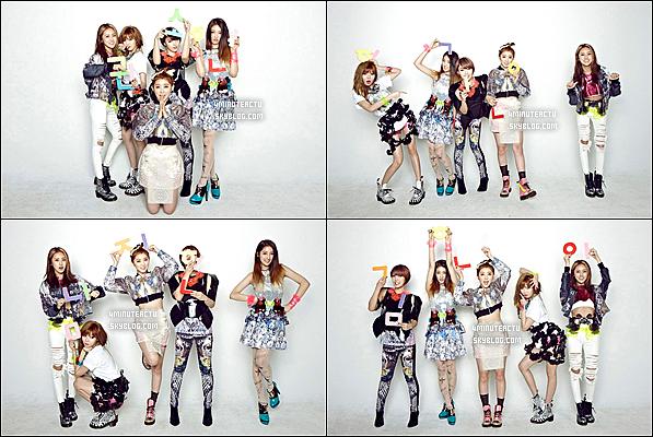 .   4Minute épellent leurs noms dans leurs nouvelles photos pour le comeback! Elles s'encouragent au moment où elles mentionnent les noms des membres, HyunA, Jihyun, Jiyoon, Gayoon, et Sohyun .
